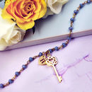 Rosary Necklace With Key Charm