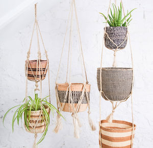 Jute Macrame Plant Hanger - decorative accessories