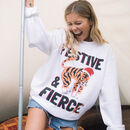 Festive And Fierce Women's Christmas Jumper