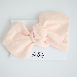 Pale Pink Baby Headband With Triangle Print - hair accessories