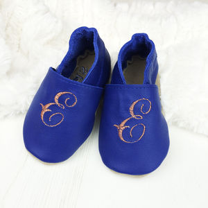 Personalised Copper Initial Baby Shoes