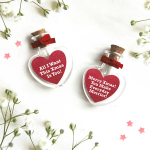 Personalised Christmas Heart Token - decorative accessories
