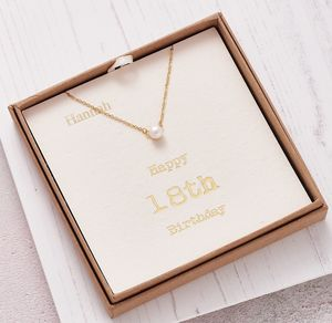 18th Birthday Pearl Of Protection Necklace