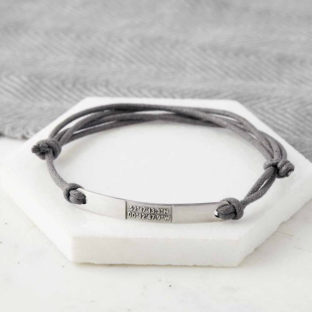 coordinate custom img coordinates personalized leather bracelet index