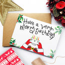 December Christmas Birthday Card