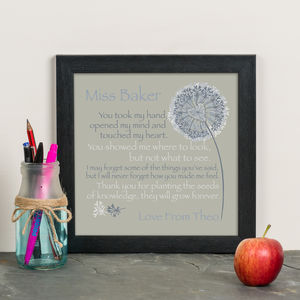 'A Great Teacher' Personalised Thank You Gift Print - gifts for teachers