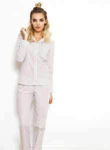 Olivia Striped Cotton Pyjamas