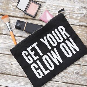 'Get Your Glow On' Pouch - gifts for friends