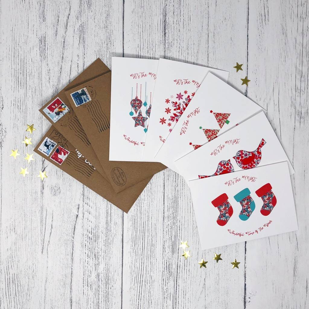 charity liberty christmas cards pack of 10 by xoxo designs by ruth ...