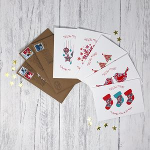 Charity Liberty Christmas Cards Pack Of 10