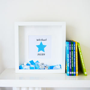 Personalised 'Little Star' Confetti Frame - new in prints & art
