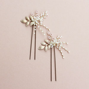 Golden Hair Pin