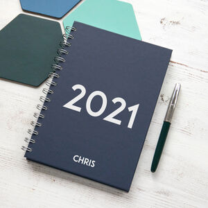 Personalised Modern 2021 Weekly Diary