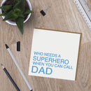 Superhero Dad Badge Card