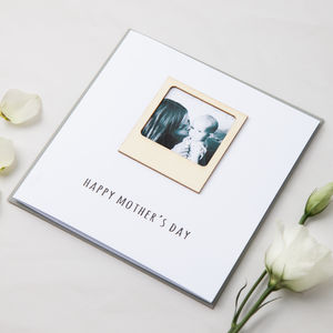 Personalised Wooden Photo Frame Card