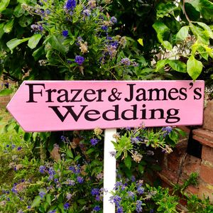 Personalised Wedding Direction Sign With Stake