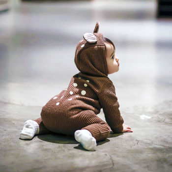 Bambi Winter Hooded Jumpsuit Brown Side Lifestyle