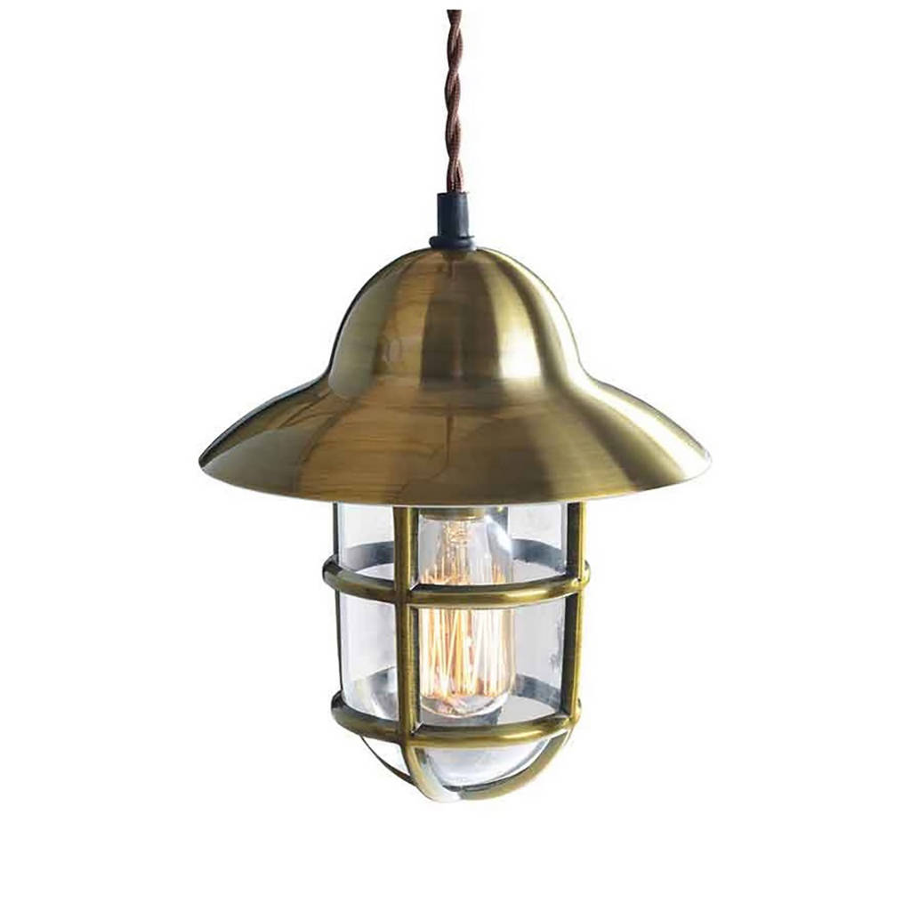 Old Industrial Pendant Light: Vintage Industrial Metallic Pendant Light By I Love Retro