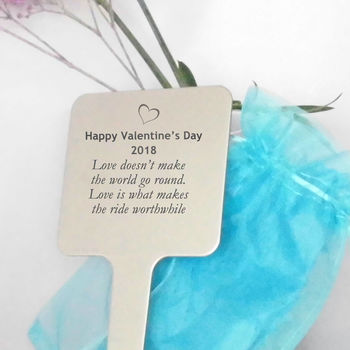 Personalised Valentine Tree Or Garden Plaque