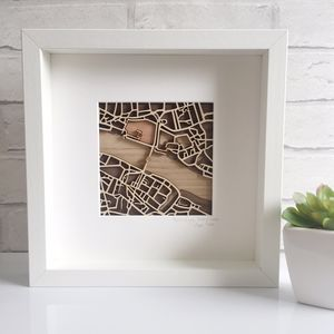 Wooden Map Of London Featuring Tower Bridge - shop by subject