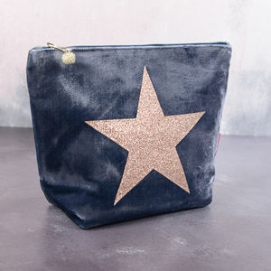 Velvet Star Make Up Bag - make-up & wash bags