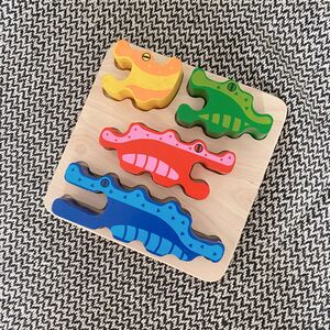 Colourful Crocodile Stacking And Puzzle Toy