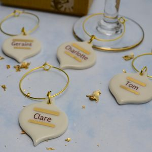 Personalised Family Drink Charm Christmas Baubles