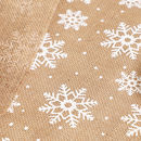Country Christmas Jute Snowflake Table Runner