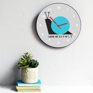 Grow Up Slowly Clock - decorative accessories