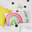 Children's Rainbow Personalised Cushion