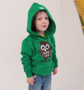 Organic Cotton Green Owl Hoody - jumpers & cardigans