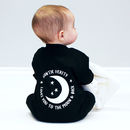 Personalised Love You To The Moon And Back Sleepsuit