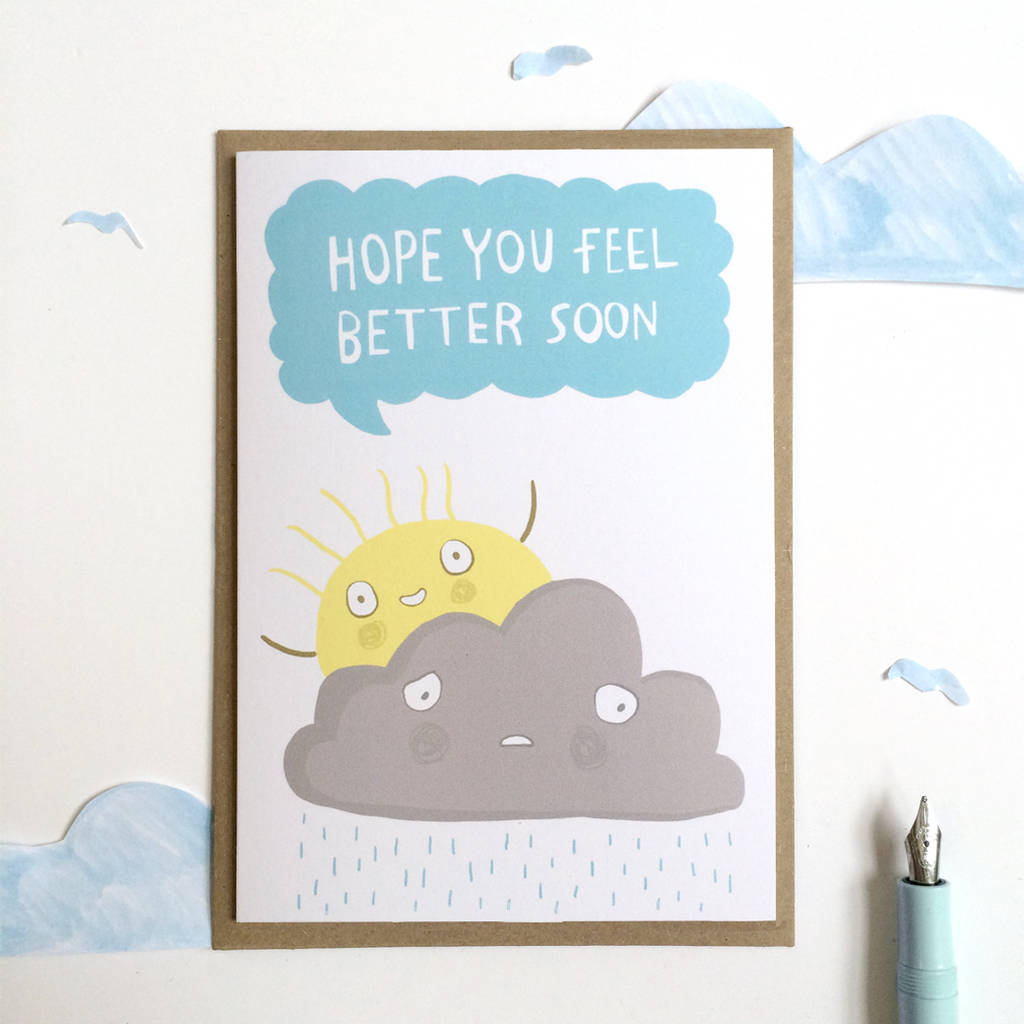 Get well soon greeting card by sarah ray notonthehighstreet get well soon greeting card m4hsunfo