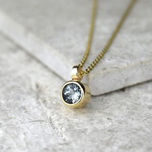 Aquamarine March Birthstone Gold Pendant - gold necklaces
