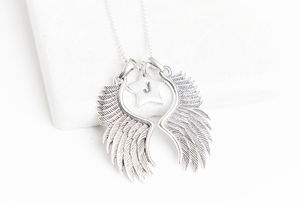 Angel Wings With Personalised Charms