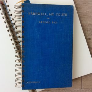 'Farewell My Youth' Upcycled Notebook