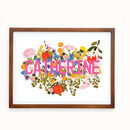 Personalised Botanical Name Print Landscape