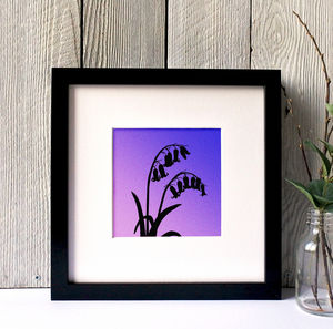 Bluebells Silhouette Framed Giclee Print - canvas prints & art