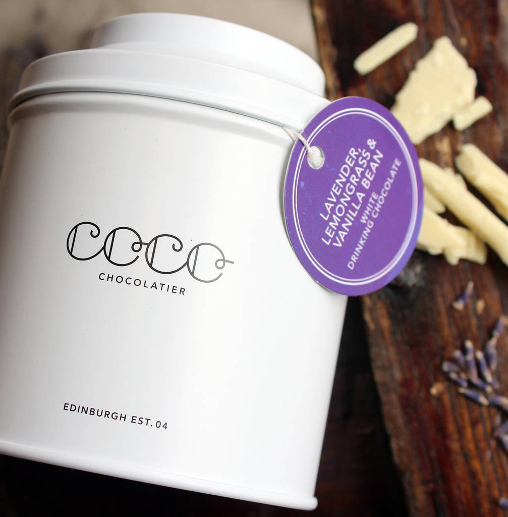... COCO CHOCOLATIER > LAVENDER, LEMONGRASS AND VANILLA DRINKING CHOCOLATE