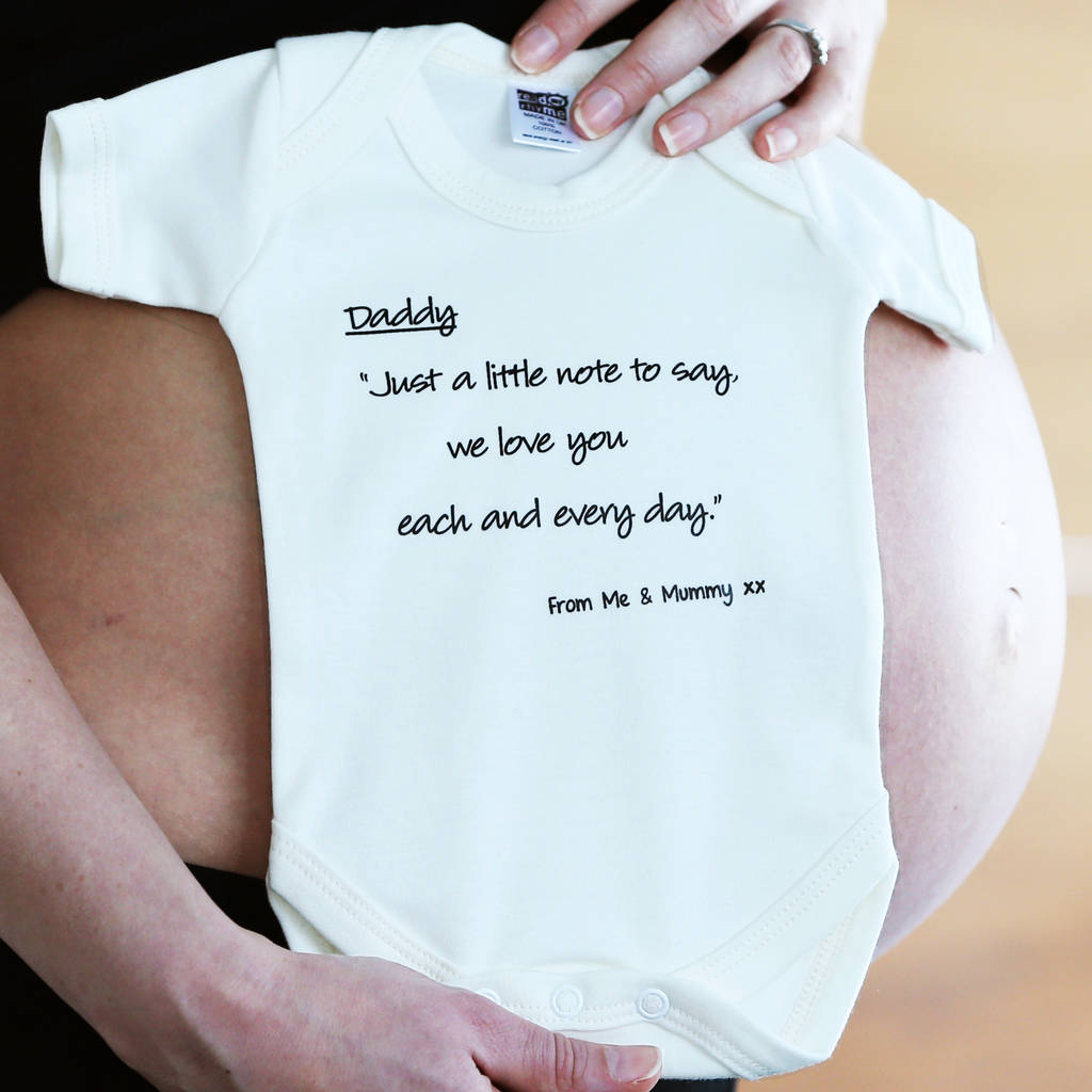 'Dad To Be' Babygrow, Stork Mail From Mummy's Tummy. '