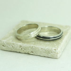Husk Sterling Silver Ring - rings
