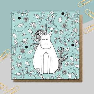 Garden Unicorn Card