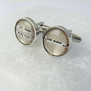 Customised Morse Code Cufflinks