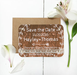 Woodland Wedding Save The Date Card