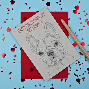 French Bulldog Valentines Day Card - personalised cards