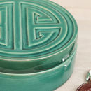 Green Art Deco Jewellery And Trinket Box