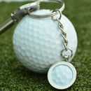 Genuine Golf Ball Silver Keyring