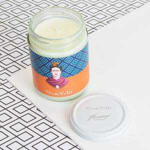 Frida Kahlo X Flamingo Candles Pineapple Geo Candle