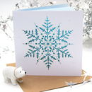 Christmas Snowflake Ice Blue Laser Cut Card