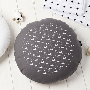 Snails And Triangles Cushion